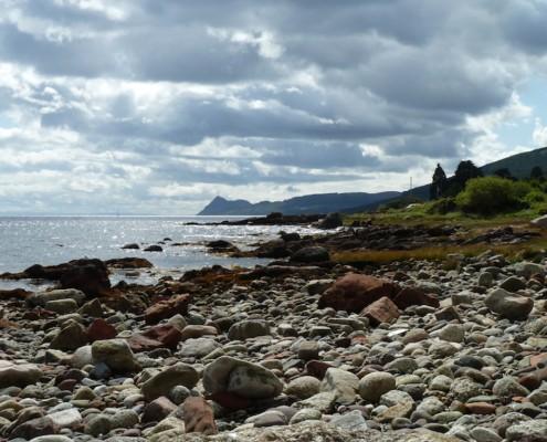 Corrie beach view South