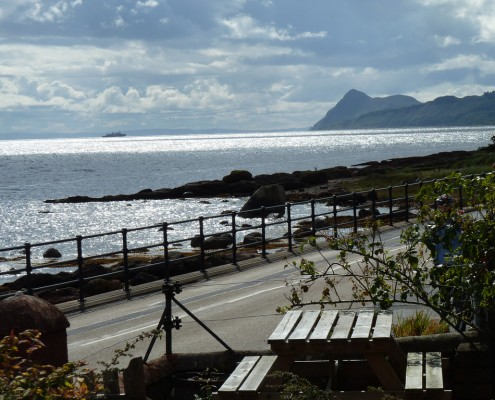 Spindrift view to Holy Isle